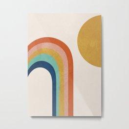 The Sun and a Rainbow Metal Print