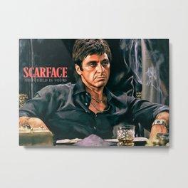 Classic Scarface Tony Montana Poster Metal Print