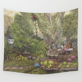 Faerie Garden Letters Wall Tapestry
