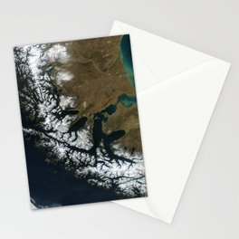 Map strait of magellan Stationery Cards