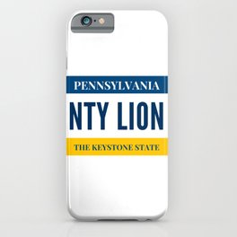 Nittany Lion License Plate iPhone Case