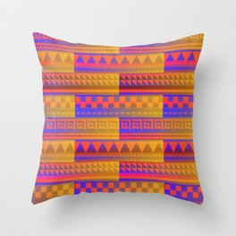 Southwest Sizzling Shapes Throw Pillow