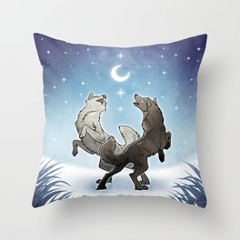 Song of a Winter Night Throw Pillow