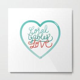 Coral Gables Love Metal Print