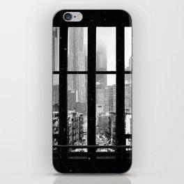 New York City Window Black and White iPhone Skin