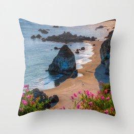 Rocky Oregon Coast Throw Pillow