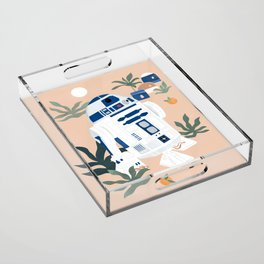 """""""Keep Calm and Droid On"""" by Maggie Stephenson Acrylic Tray"""