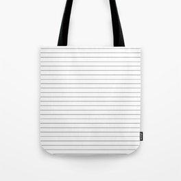 White And Black Pinstripe Line Stripe Minimalist Stripes Lines Tote Bag