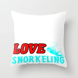 Snorkeling Peace Love Dive Diving Underwater Gift  Throw Pillow