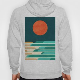 Chasing wave under the red moon Hoody
