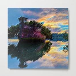 Abandoned Shipwreck Landscape by Jeanpaul Ferro Metal Print