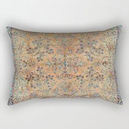 Kashan Floral Persian Carpet Print Rectangular Pillow
