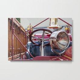 Old fire department car Metal Print