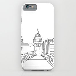 St Paul's Cathedral from Millennium Bridge, London iPhone Case