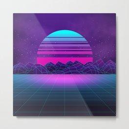 Future Sunset Vaporwave Aesthetic Metal Print