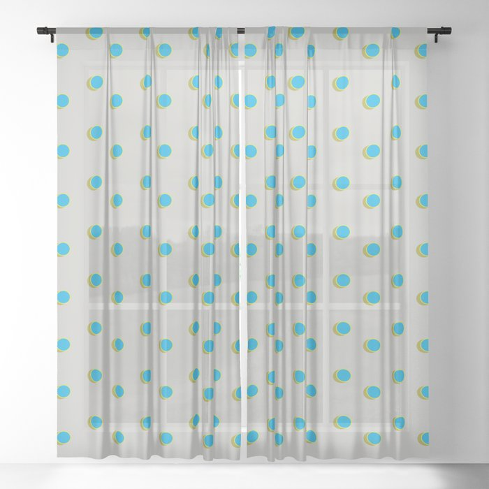 3D Dotted Pattern IV Sheer Curtain