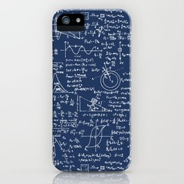 Physics Equations // Navy iPhone Case