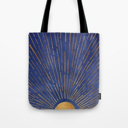 Twilight / Blue and Metallic Gold Palette Tote Bag