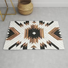 Urban Tribal Pattern No.5 - Aztec - Concrete and Wood Rug
