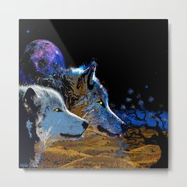 THE WOLF YOU KNOW Metal Print