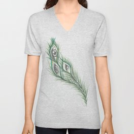 Peacock Eyes  Unisex V-Neck