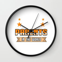 Family Love Bloodline Household Clan Relationship Birth Best Parents In The World Gift Wall Clock