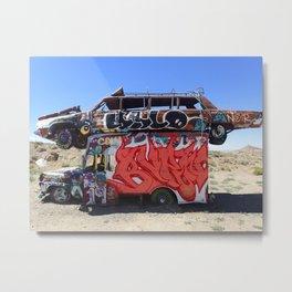 Box truck limo art Metal Print