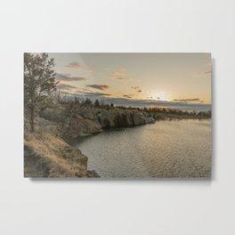 Sunset at Halibut Point Park Metal Print