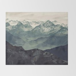 Mountain Fog Throw Blanket