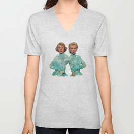 Two Different Faces... (Sisters) Unisex V-Neck
