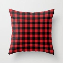 Buffalo Plaid Rustic Lumberjack Buffalo Check Pattern Throw Pillow