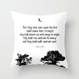 Mount up with wings as eagles Throw Pillow