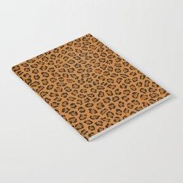 Dark leopard animal print Notebook