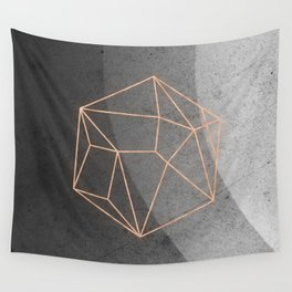 Geometric Solids on Marble Wall Tapestry