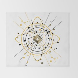 Complex Atom Throw Blanket