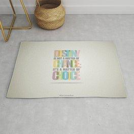 Lab No. 4 - Destiny Typographic Inspirational Quote print art Poster Rug