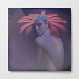 Portrait of the face of spring Metal Print
