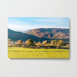 Autumn landscape with mountains in Rhone-Alpes Metal Print