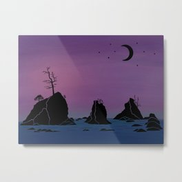 Moon over Three Graces Metal Print