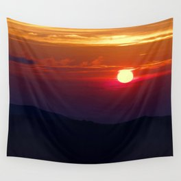 Great Smoky Mountain Sunset Wall Tapestry