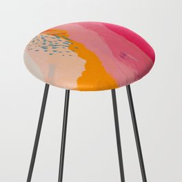 Abstract Line Shades Counter Stool