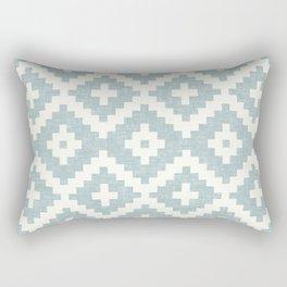woven aztec geometric - dusty blue Rectangular Pillow