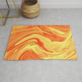 Orange Marble Marble Rug