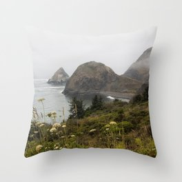 View of Sisters Rock Throw Pillow