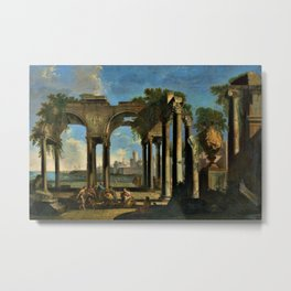 Giovanni Paolo Pannini's Masterpiece: Apostle Paul Preaching in Campagna Metal Print