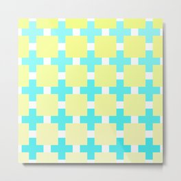 A mosaic in pastel blue and beige color Metal Print
