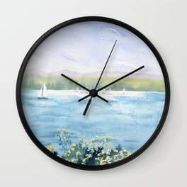 Cayuga Lake Regatta Wall Clock