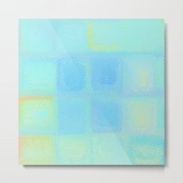 Rainbow Frosted Glass Pattern Metal Print