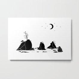 Three Graces Black on white Metal Print