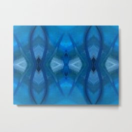 Pattern III Blue Metal Print